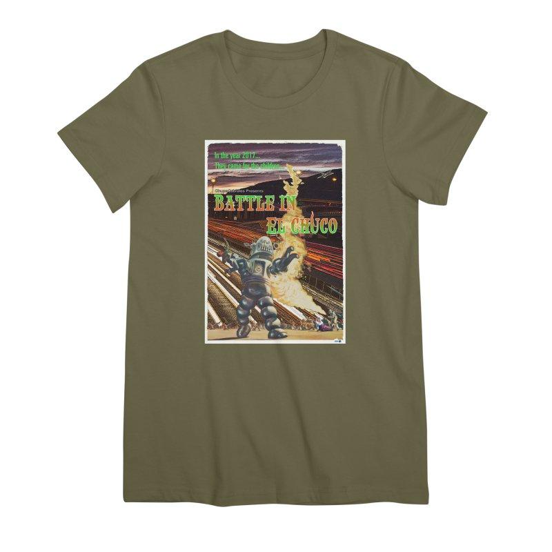 Battle in El Chuco by ChupaCabrales Women's Premium T-Shirt by ChupaCabrales's Shop