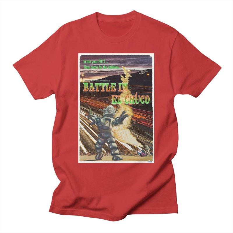 Battle in El Chuco by ChupaCabrales Men's T-Shirt by ChupaCabrales's Shop