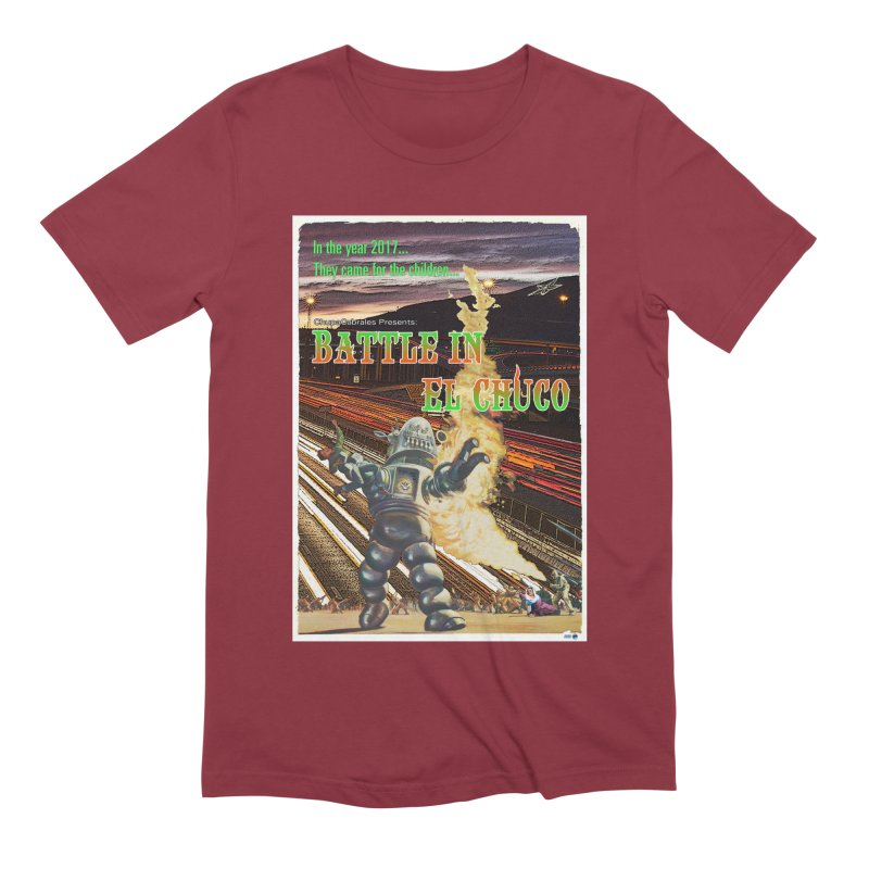 Battle in El Chuco by ChupaCabrales Men's Extra Soft T-Shirt by ChupaCabrales's Shop