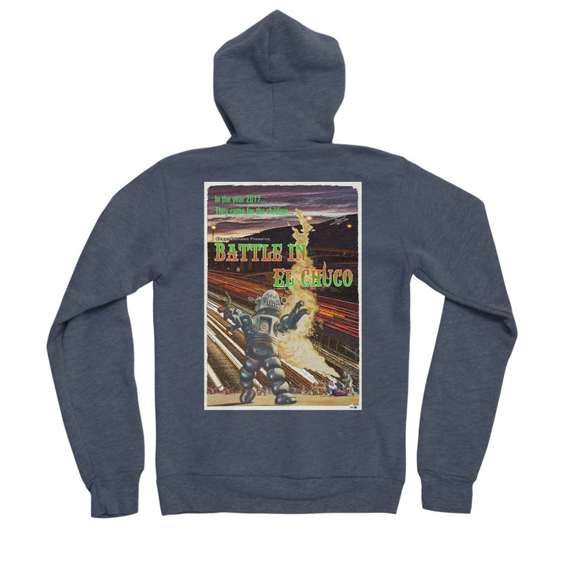 Battle in El Chuco by ChupaCabrales Women's Sponge Fleece Zip-Up Hoody by ChupaCabrales's Shop