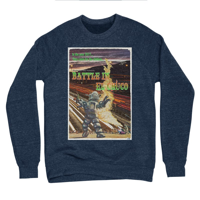 Battle in El Chuco by ChupaCabrales Women's Sponge Fleece Sweatshirt by ChupaCabrales's Shop