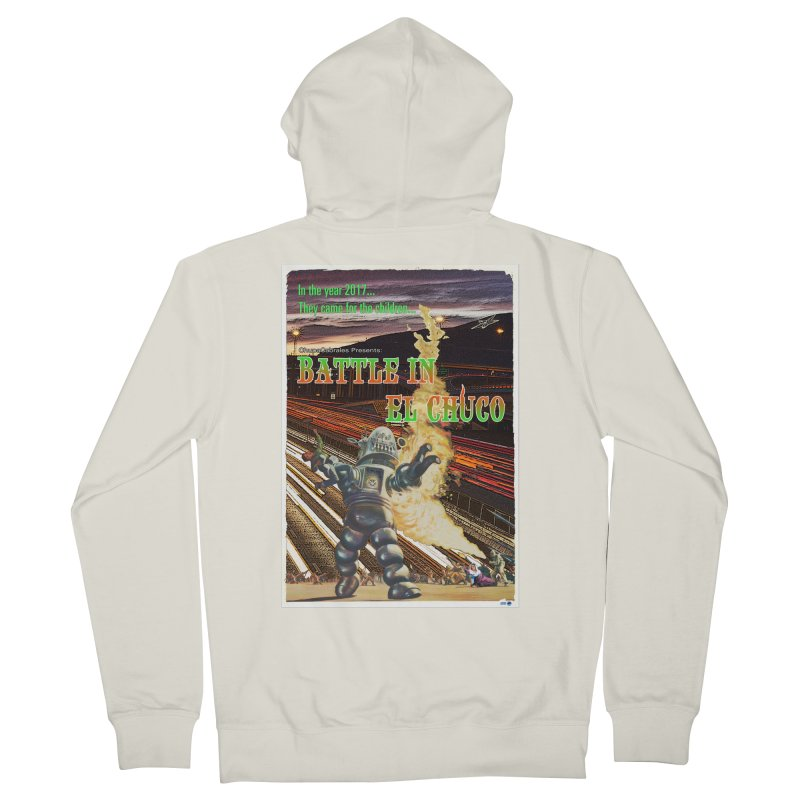 Battle in El Chuco by ChupaCabrales Women's French Terry Zip-Up Hoody by ChupaCabrales's Shop