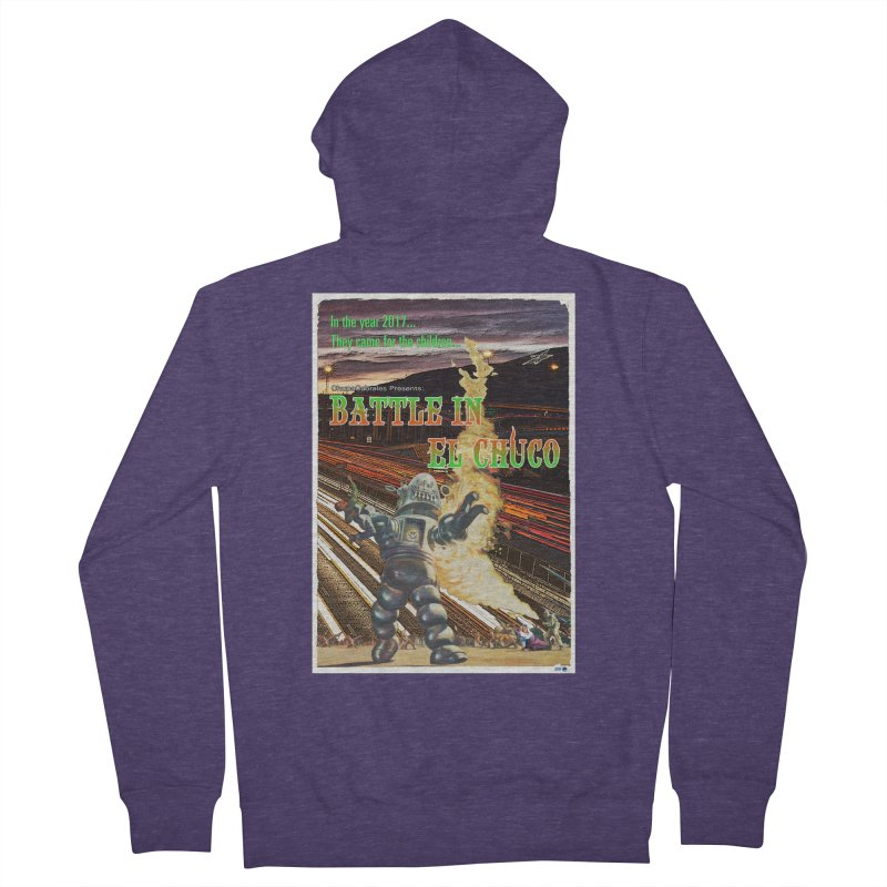 Battle in El Chuco by ChupaCabrales Men's French Terry Zip-Up Hoody by ChupaCabrales's Shop