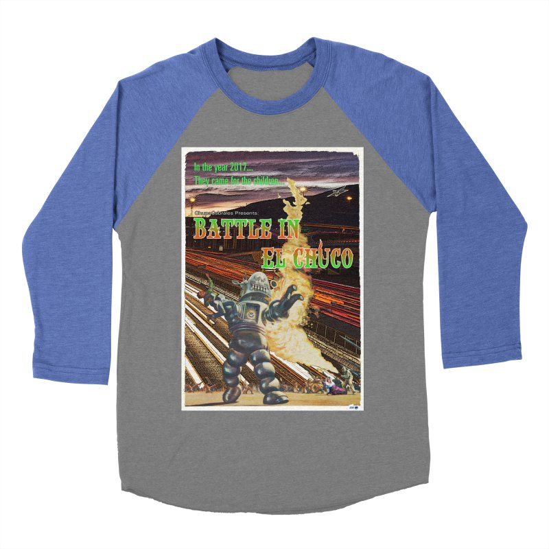 Battle in El Chuco by ChupaCabrales Women's Baseball Triblend Longsleeve T-Shirt by ChupaCabrales's Shop