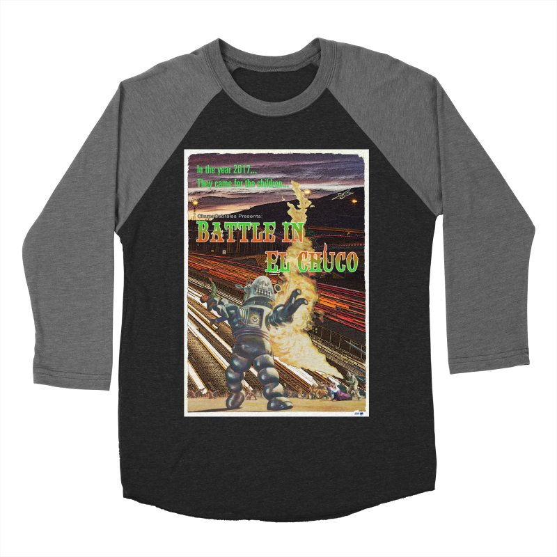Battle in El Chuco by ChupaCabrales Women's Baseball Triblend Longsleeve T-Shirt by ChupaCabrales's Shop
