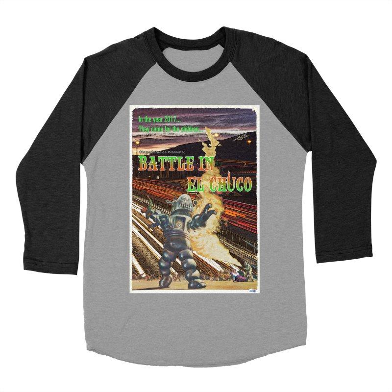 Battle in El Chuco by ChupaCabrales Men's Baseball Triblend Longsleeve T-Shirt by ChupaCabrales's Shop