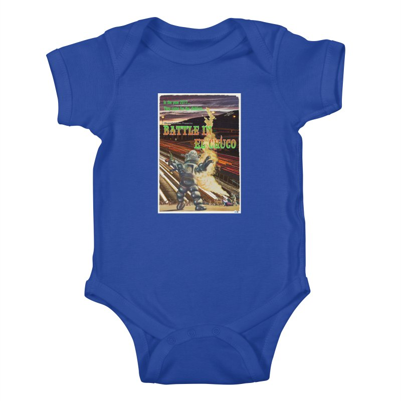 Battle in El Chuco by ChupaCabrales Kids Baby Bodysuit by ChupaCabrales's Shop