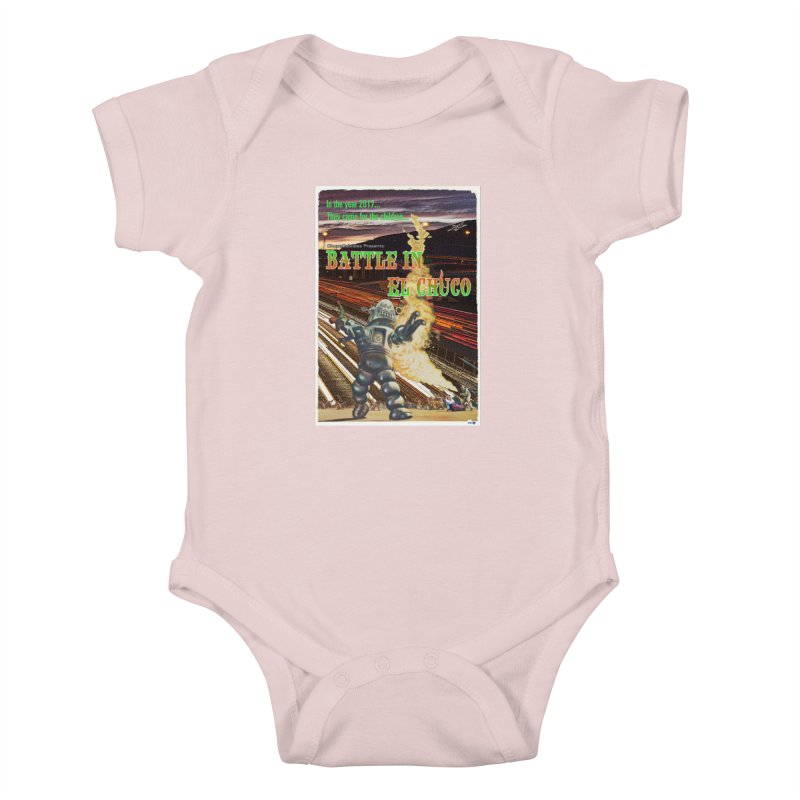 Battle in El Chuco by ChupaCabrales Kids Baby Bodysuit by ChupaCabrales's Shop