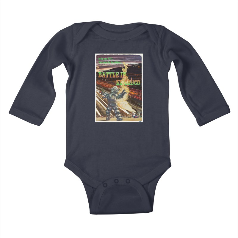 Battle in El Chuco by ChupaCabrales Kids Baby Longsleeve Bodysuit by ChupaCabrales's Shop
