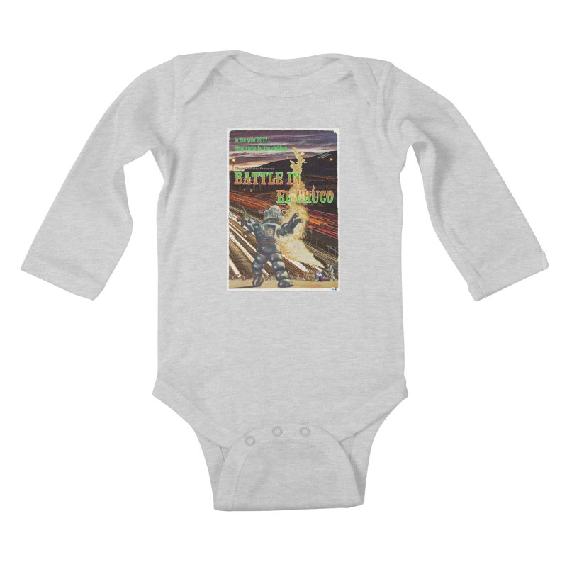 Battle in El Chuco by ChupaCabrales Kids Baby Longsleeve Bodysuit by ChupaCabrales's Shop