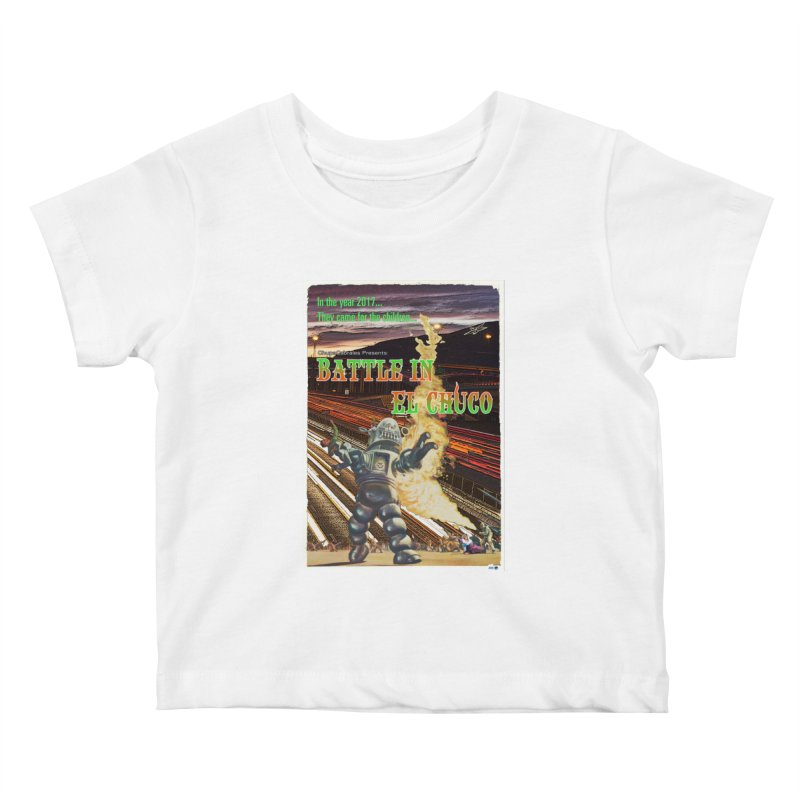 Battle in El Chuco by ChupaCabrales Kids Baby T-Shirt by ChupaCabrales's Shop