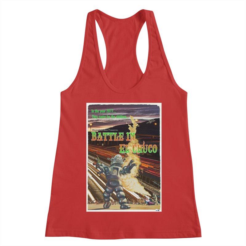 Battle in El Chuco by ChupaCabrales Women's Racerback Tank by ChupaCabrales's Shop