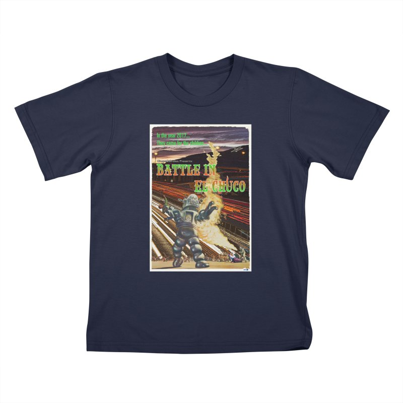 Battle in El Chuco by ChupaCabrales Kids T-Shirt by ChupaCabrales's Shop