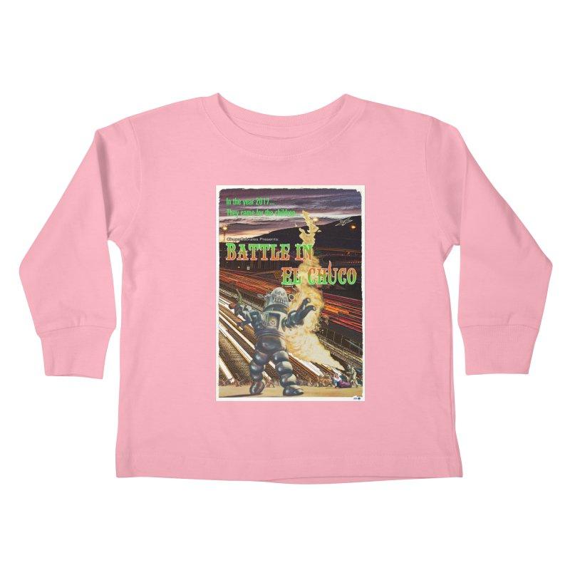 Battle in El Chuco by ChupaCabrales Kids Toddler Longsleeve T-Shirt by ChupaCabrales's Shop
