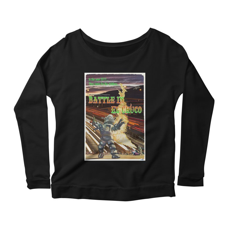 Battle in El Chuco by ChupaCabrales Women's Scoop Neck Longsleeve T-Shirt by ChupaCabrales's Shop
