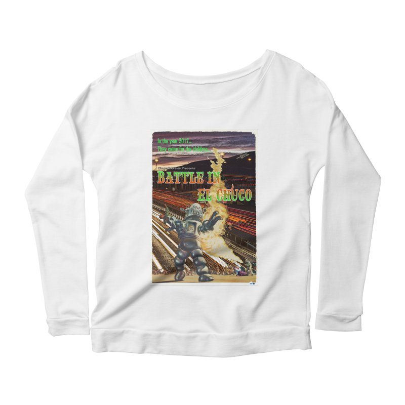 Battle in El Chuco by ChupaCabrales Women's Scoop Neck Longsleeve T-Shirt by ChupaCabrales's Shop