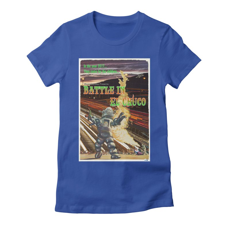 Battle in El Chuco by ChupaCabrales Women's Fitted T-Shirt by ChupaCabrales's Shop