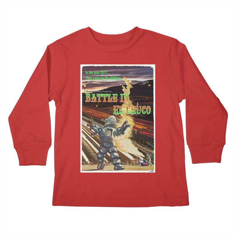 Battle in El Chuco by ChupaCabrales Kids Longsleeve T-Shirt by ChupaCabrales's Shop
