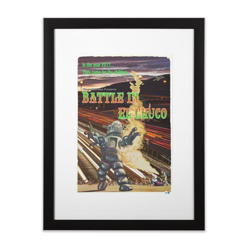 Battle in El Chuco by ChupaCabrales Home Framed Fine Art Print by ChupaCabrales's Shop