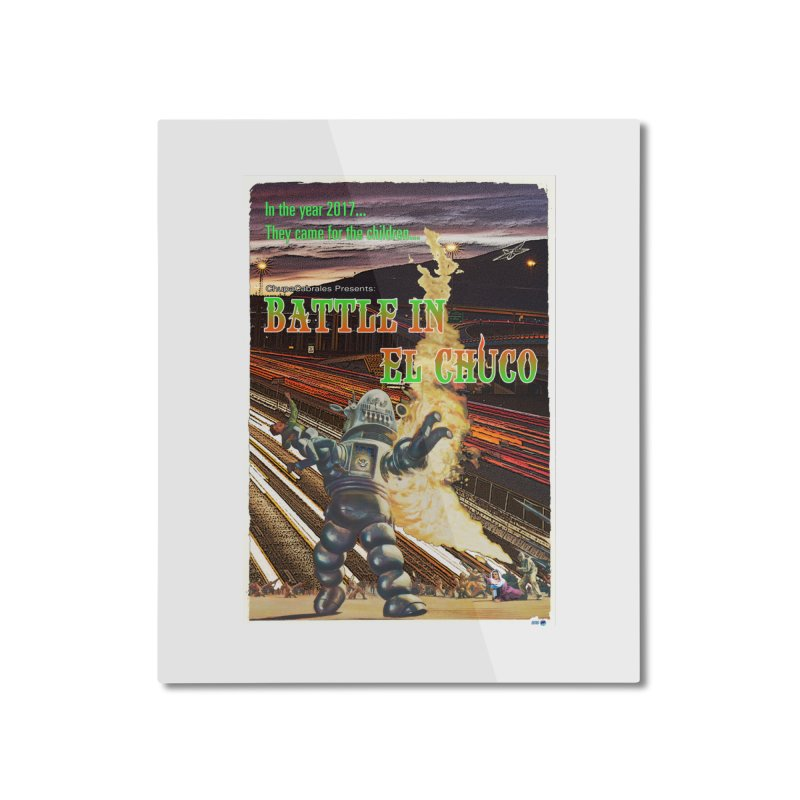 Battle in El Chuco by ChupaCabrales Home Mounted Aluminum Print by ChupaCabrales's Shop