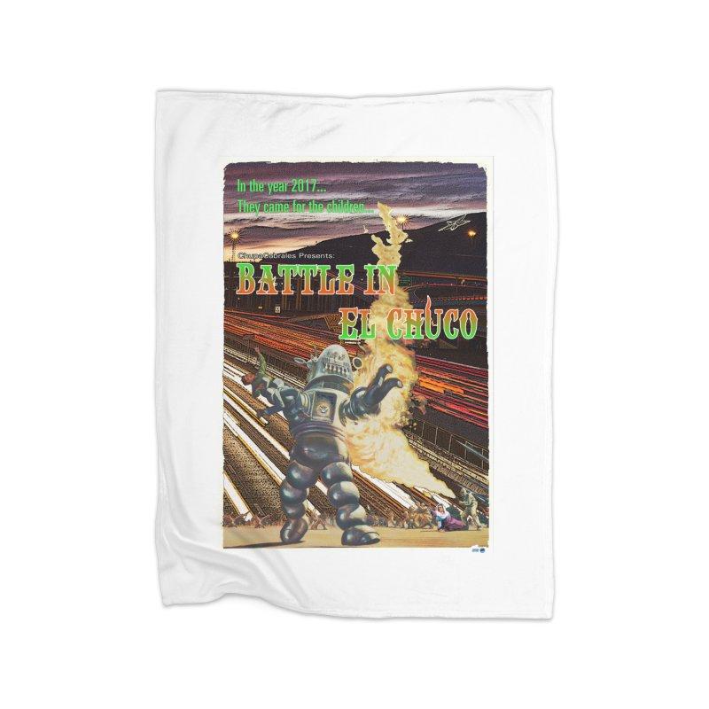 Battle in El Chuco by ChupaCabrales Home Fleece Blanket Blanket by ChupaCabrales's Shop