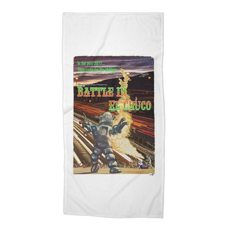 Battle in El Chuco by ChupaCabrales Accessories Beach Towel by ChupaCabrales's Shop