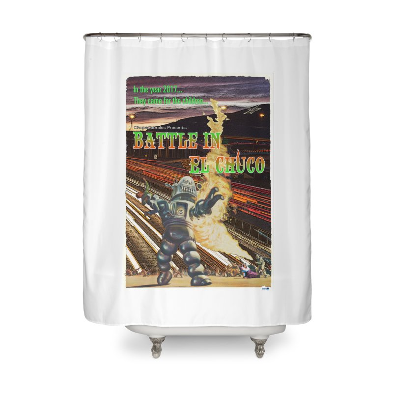 Battle in El Chuco by ChupaCabrales Home Shower Curtain by ChupaCabrales's Shop