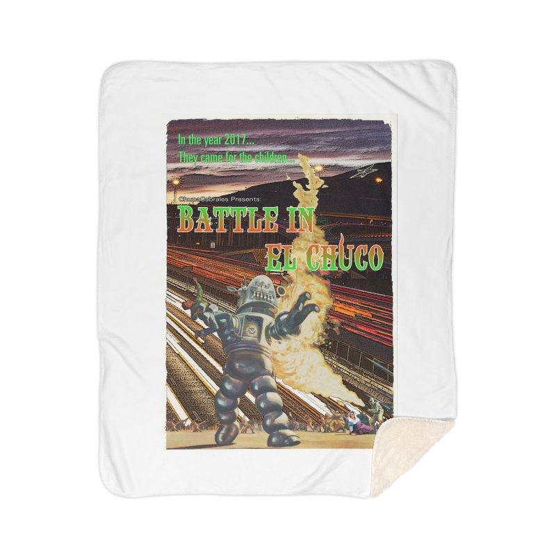 Battle in El Chuco by ChupaCabrales Home Sherpa Blanket Blanket by ChupaCabrales's Shop
