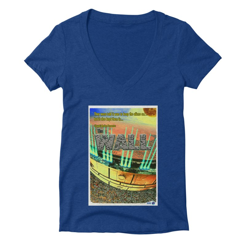 The Wall by ChupaCabrales Women's Deep V-Neck V-Neck by ChupaCabrales's Shop