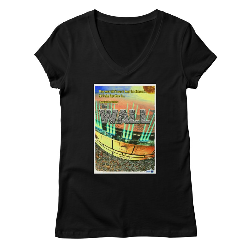 The Wall by ChupaCabrales Women's V-Neck by ChupaCabrales's Shop