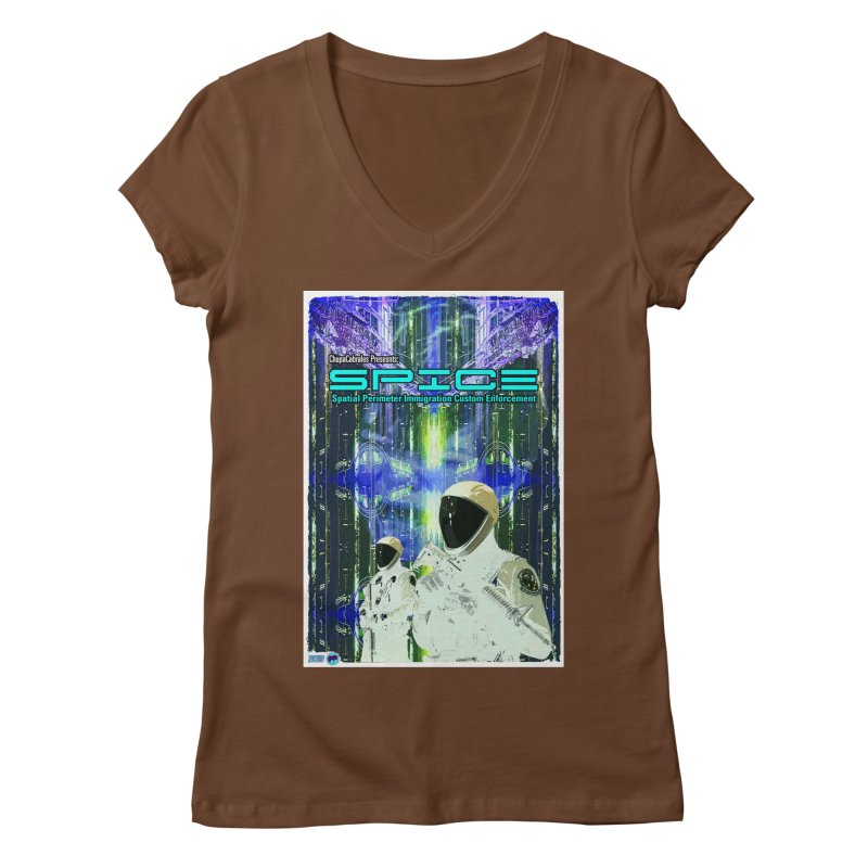 SPICE by ChupaCabrales Women's Regular V-Neck by ChupaCabrales's Shop