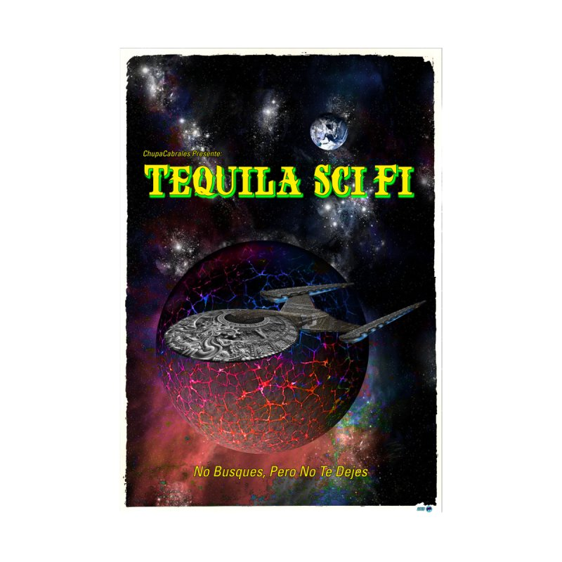 Tequila Sci Fi by ChupaCabrales Home Throw Pillow by ChupaCabrales's Shop
