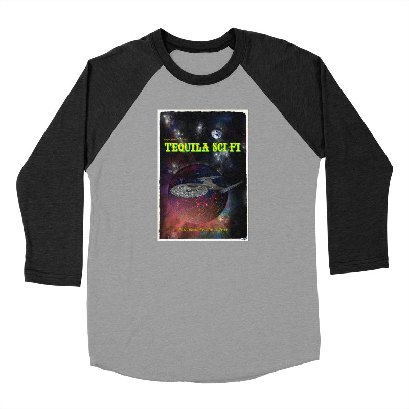 Tequila Sci Fi by ChupaCabrales Men's Baseball Triblend Longsleeve T-Shirt by ChupaCabrales's Shop