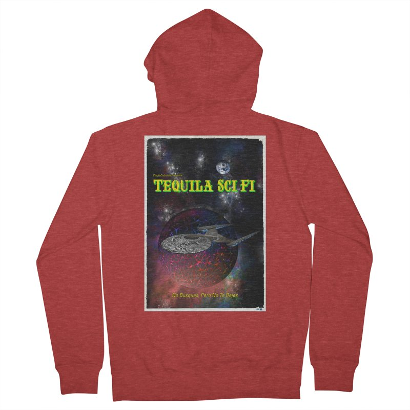 Tequila Sci Fi by ChupaCabrales Men's French Terry Zip-Up Hoody by ChupaCabrales's Shop
