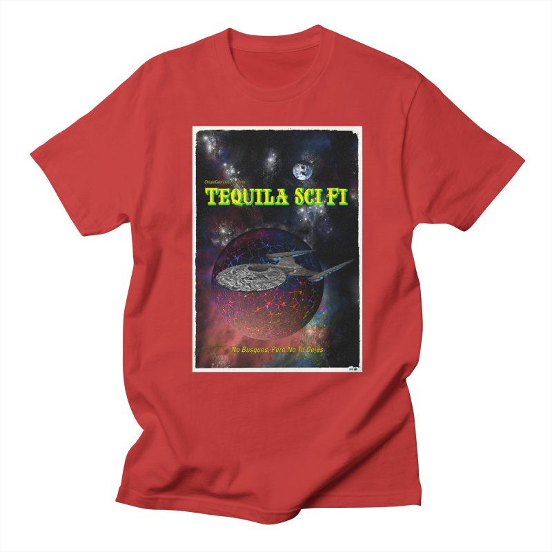 Tequila Sci Fi by ChupaCabrales Men's T-Shirt by ChupaCabrales's Shop