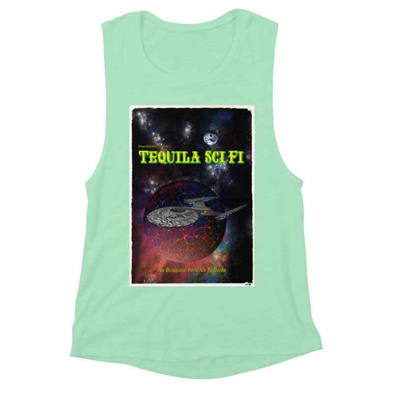 Tequila Sci Fi by ChupaCabrales Women's Muscle Tank by ChupaCabrales's Shop