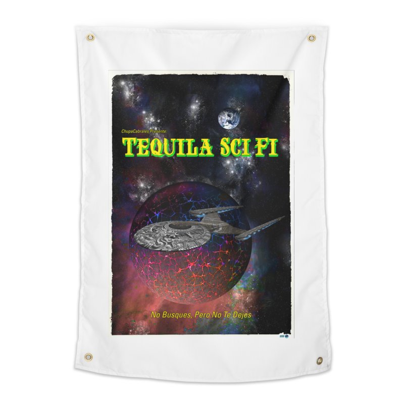 Tequila Sci Fi by ChupaCabrales Home Tapestry by ChupaCabrales's Shop
