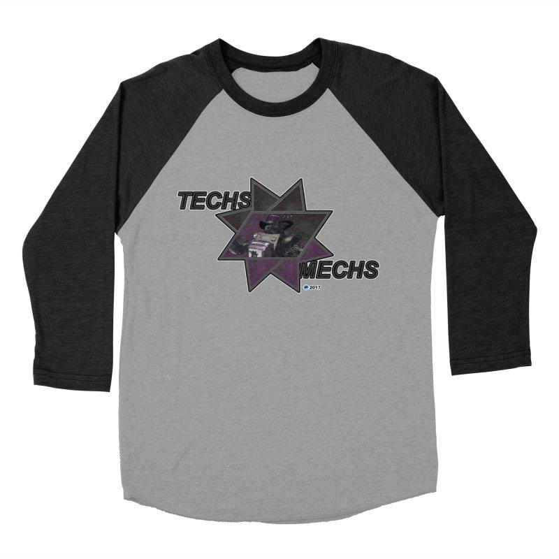 Techs Mechs by ChupaCabrales Men's Baseball Triblend T-Shirt by ChupaCabrales's Shop