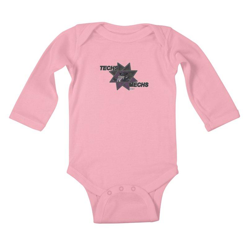 Techs Mechs by ChupaCabrales Kids Baby Longsleeve Bodysuit by ChupaCabrales's Shop