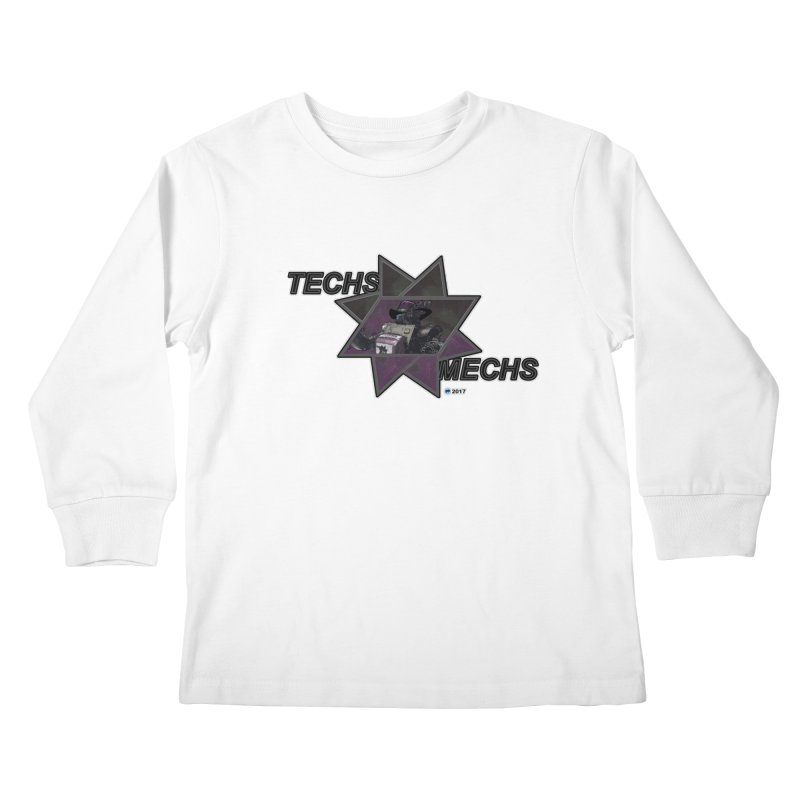 Techs Mechs by ChupaCabrales Kids Longsleeve T-Shirt by ChupaCabrales's Shop