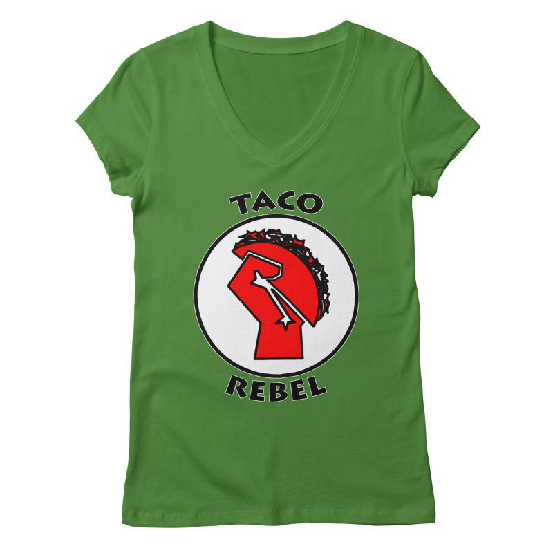 Taco Rebel by ChupaCabrales Women's V-Neck by ChupaCabrales's Shop