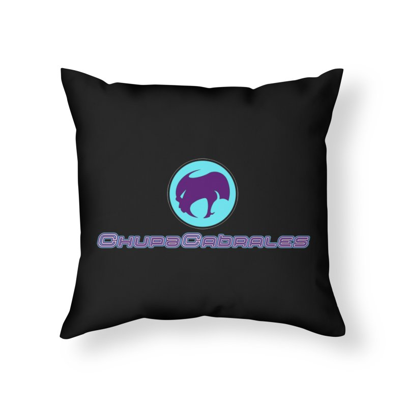The official seal of the ChupaCabrales Home Throw Pillow by ChupaCabrales's Shop