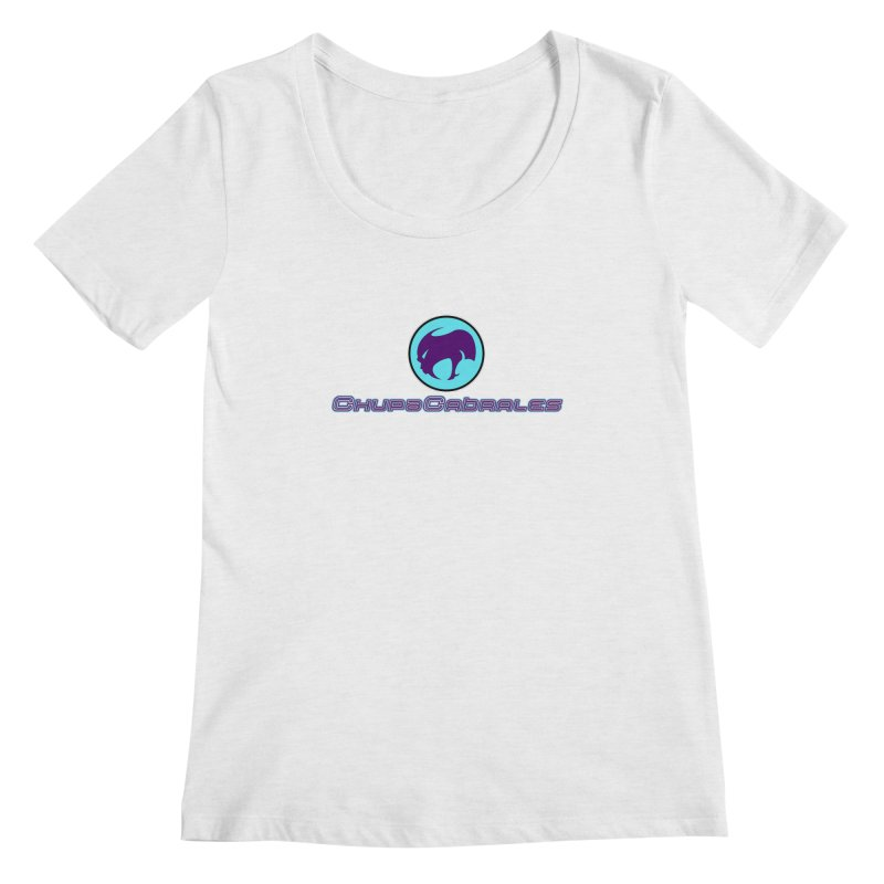 The official seal of the ChupaCabrales Women's Regular Scoop Neck by ChupaCabrales's Shop