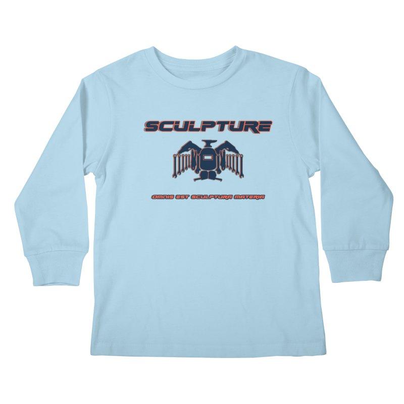 Sculpture Philosophy by ChupaCabrales Kids Longsleeve T-Shirt by ChupaCabrales's Shop