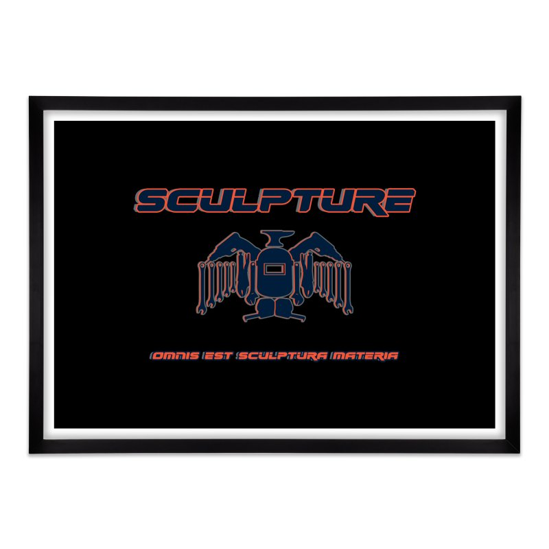 Sculpture Philosophy by ChupaCabrales Home Framed Fine Art Print by ChupaCabrales's Shop