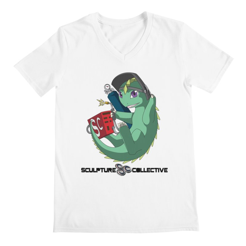 Weldzilla by Michelle Fluekiger Men's V-Neck by ChupaCabrales's Shop