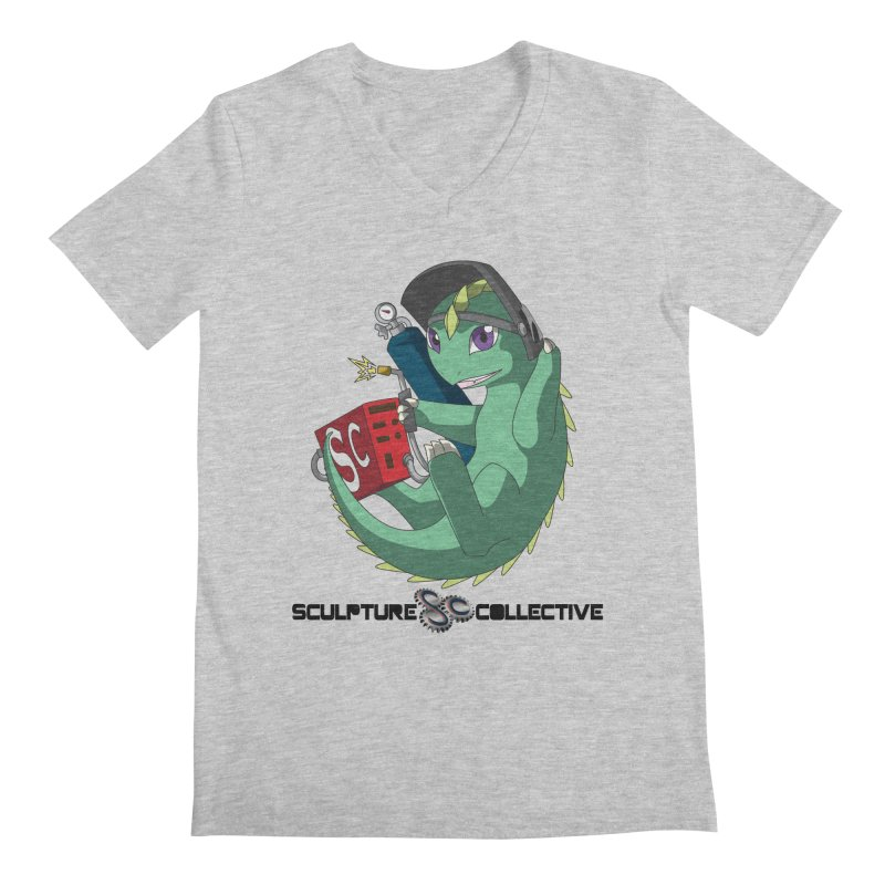 Weldzilla by Michelle Fluekiger Men's Regular V-Neck by ChupaCabrales's Shop