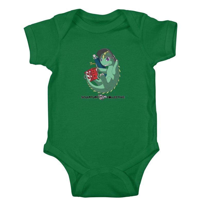Weldzilla by Michelle Fluekiger Kids Baby Bodysuit by ChupaCabrales's Shop