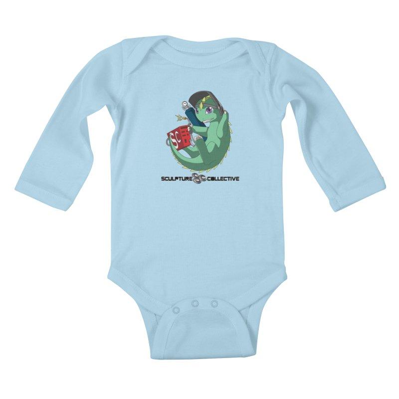 Weldzilla by Michelle Fluekiger Kids Baby Longsleeve Bodysuit by ChupaCabrales's Shop