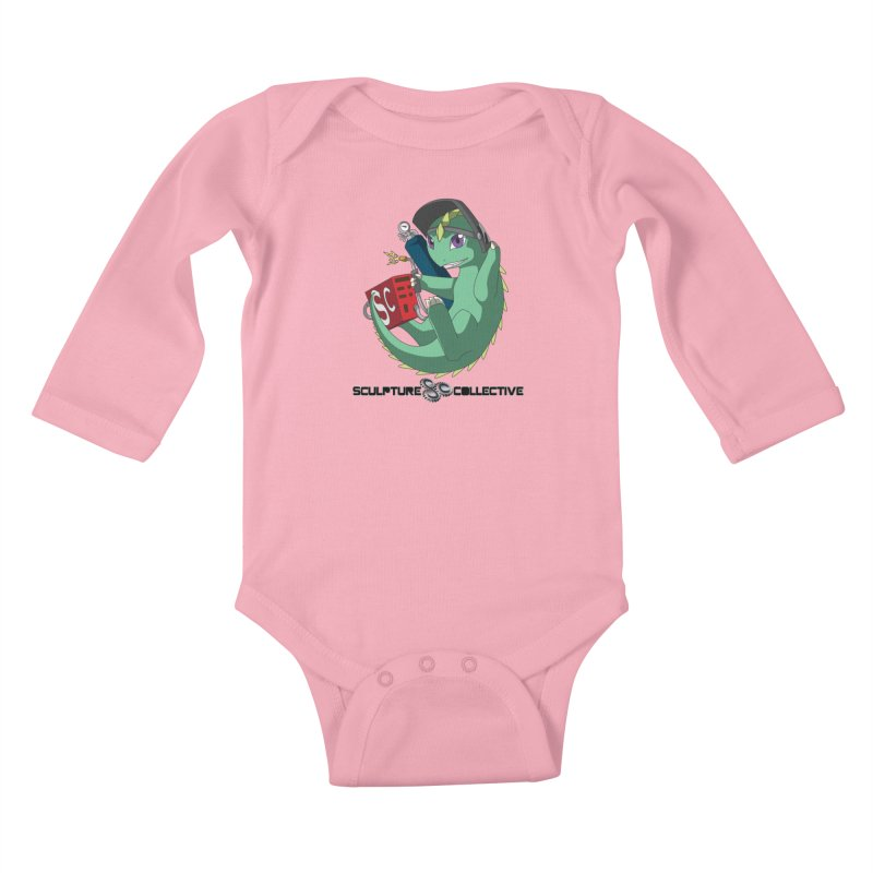 Weldzilla by Michelle Fluekiger Kids Baby Longsleeve Bodysuit by ChupaCabrales's Shop